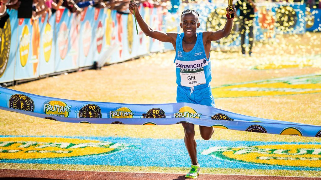 Male contenders at the 2019 Comrades Marathon