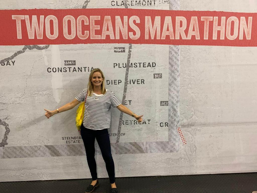 Gemma at the Two Oceans Marathon Expo