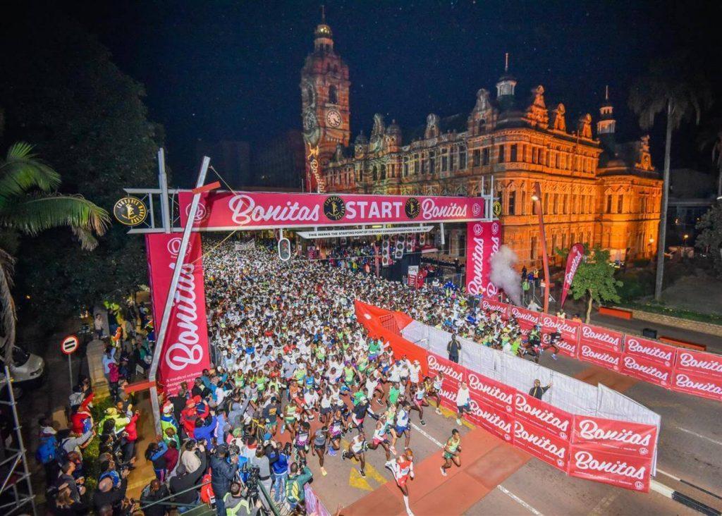 Comrades Marathon in Pietermaritzburg for the Down Run